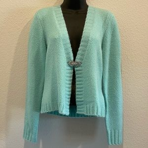 Faded Glory Vintage Turquoise Blue Cardigan S NWT